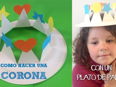 Manualidades para niños | Corona con plato de papel