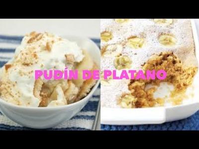 MI RECETA FÁCIL: PUDÍN CREMOSO DE PLATANO. Banana Pudding