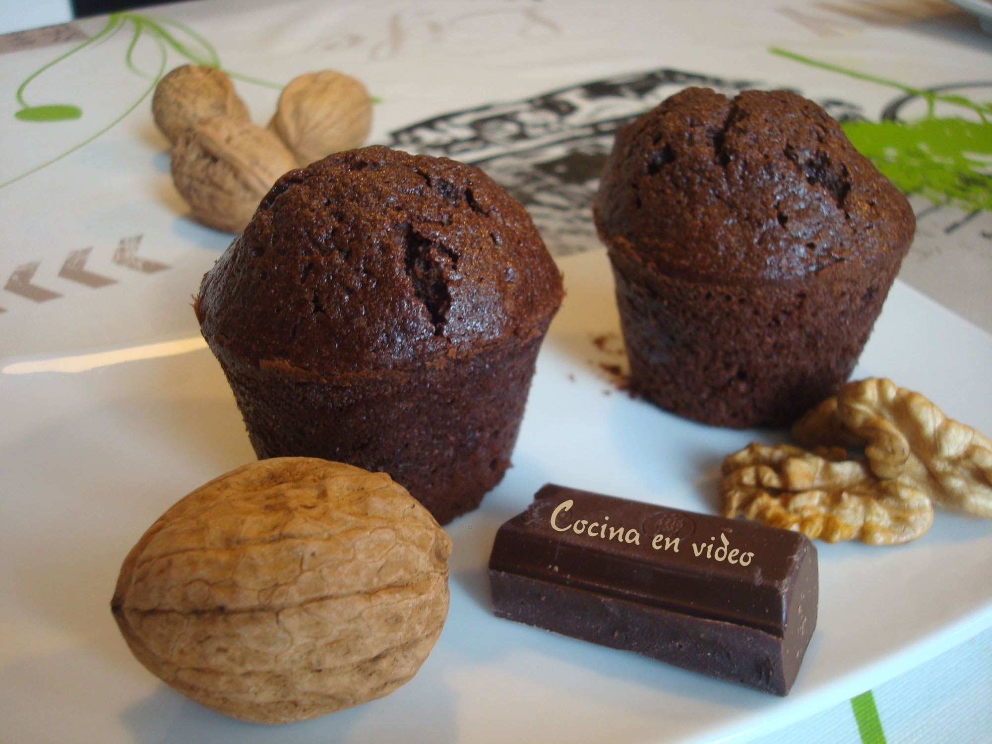 Muffins de chocolate #187 - Muffins with Chocolate - #CocinaEnvideo