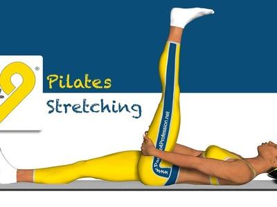 Pilates ejercicio - Estiramiento de los músculos posteriores del muslo