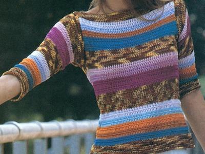 Suéter cerrado puntada fácil a crochet