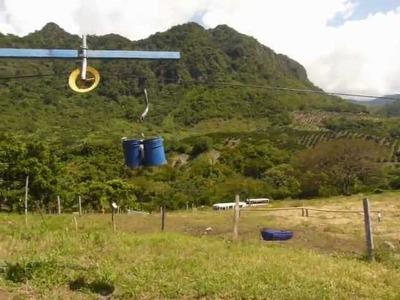 Transporte de fruto por cable movil