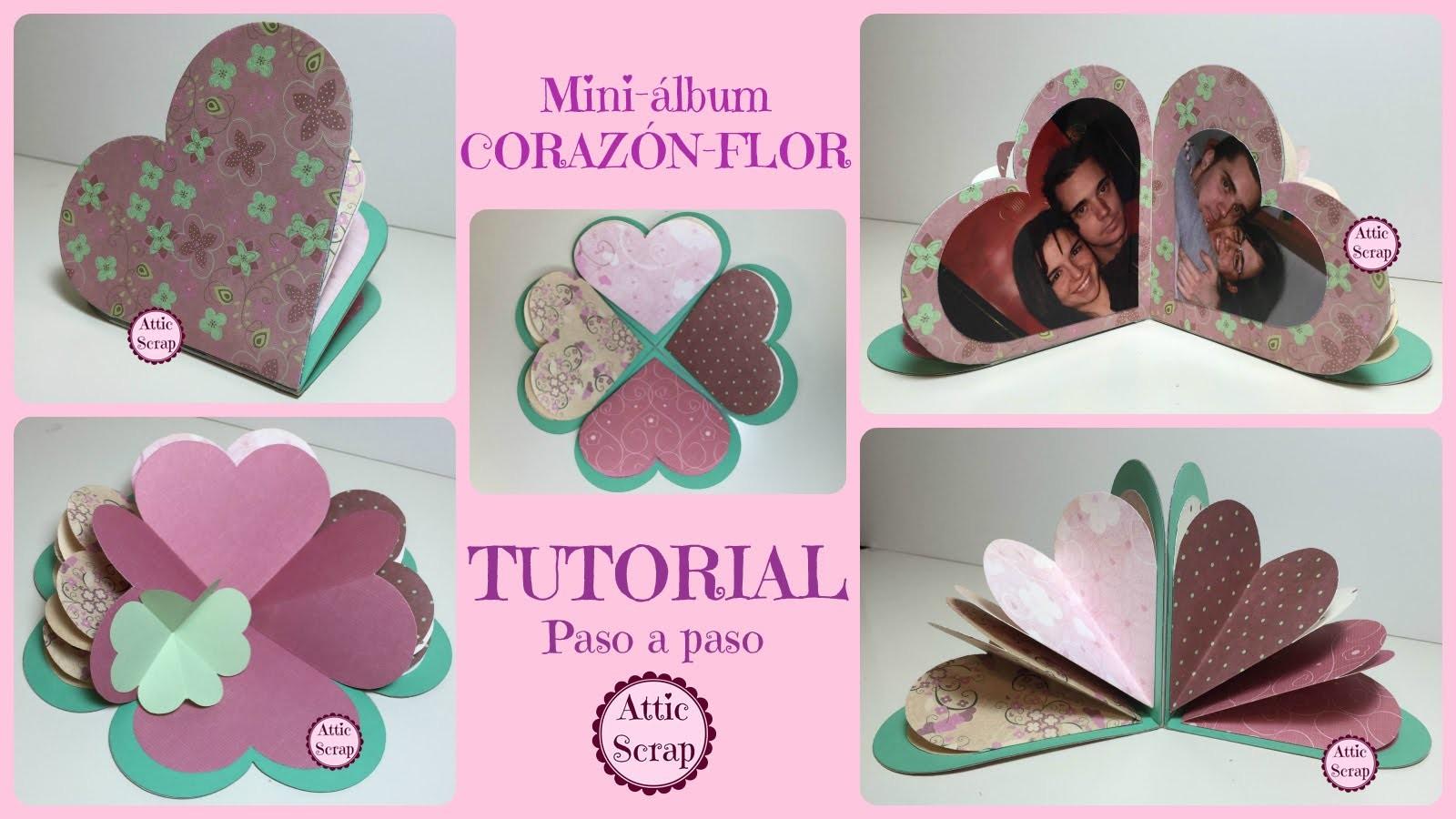 TUTORIAL San Valentín   Minialbum Corazón Flor