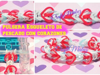 Tutoriales:♥:Pulsera de Gomitas Corazones de San Valentin♥