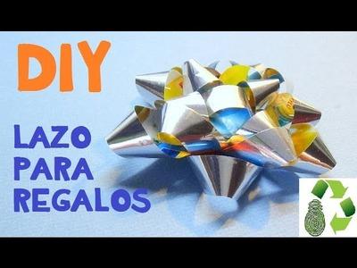 91.  DIY LAZO - MOÑO (RECICLAJE DE PAPEL)