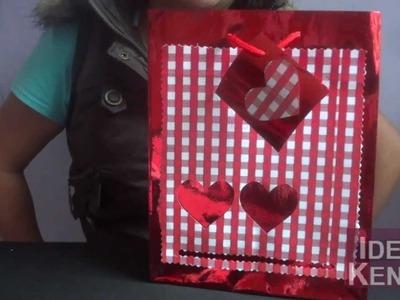 Como decorar bolsa de regalo para día de san Valentín
