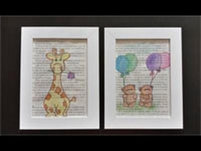 Cómo hacer cuadros originales con hojas de libros | facilisimo.com