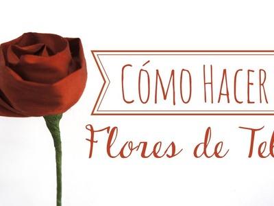 Cómo hacer flores de tela muy fácil