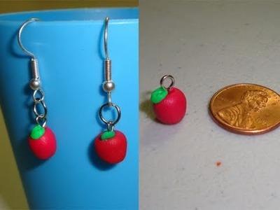Cómo hacer manzanas rojas para aretes con arcilla polimerica