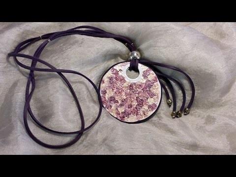 Cómo hacer un medallón reciclando CD (2 de 2) | facilisimo.com