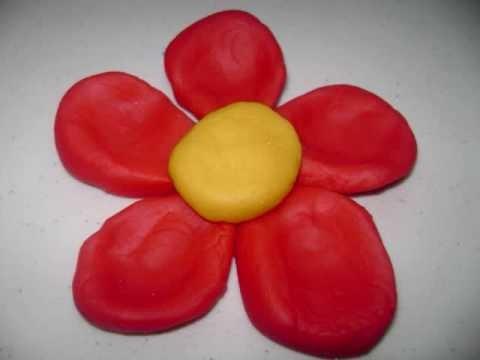 Como hacer una flor de masilla sencilla