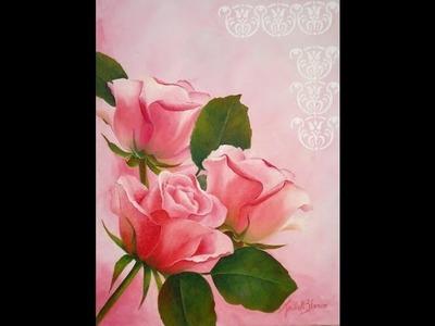 Como pintar al oleo - Rosas
