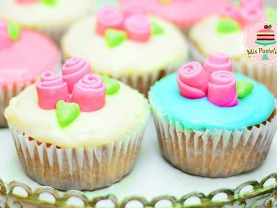CUPCAKES 3 LECHES CON HARINA DE HOT CAKES | PARA MAMÁ | MIS PASTELITOS