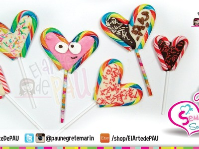 (Day 1) Valentine's Day Chocolate&Candy Lollipop. (Día 1) Paleta de caramelo San Valentín