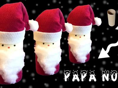Decoración de navidad: Papa Noël de cartón