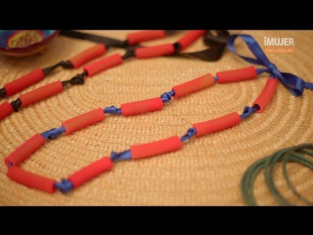 Divertido collar con pasta | Manualidades para niños | @iMujerHogar