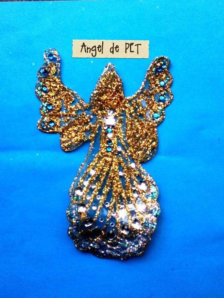 DIY Ángel de PET botella reciclaje colgante para árbol Navidad Ornament Tree christmas