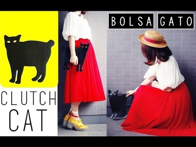 DIY: Clutch Cat - Bolsa. Gato negro ♥