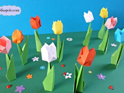 DIY, Cómo Hacer Tulipanes de Papel, Pequeños Tulipanes de Papel