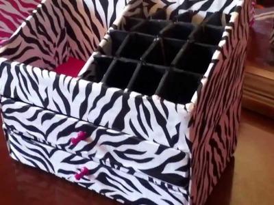 DIY Organizador para maquillaje y labiales