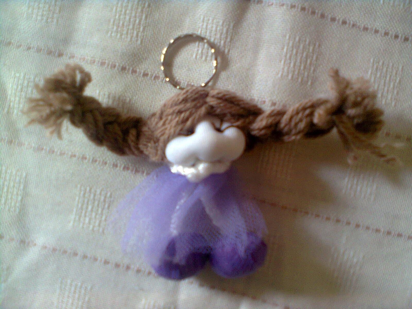 Doll keychain. nena llavero . proyecto 225
