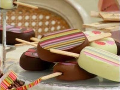 Dulces celebraciones - Manzanas con caramelo y chocolate y Paletas de pastel de chocolate