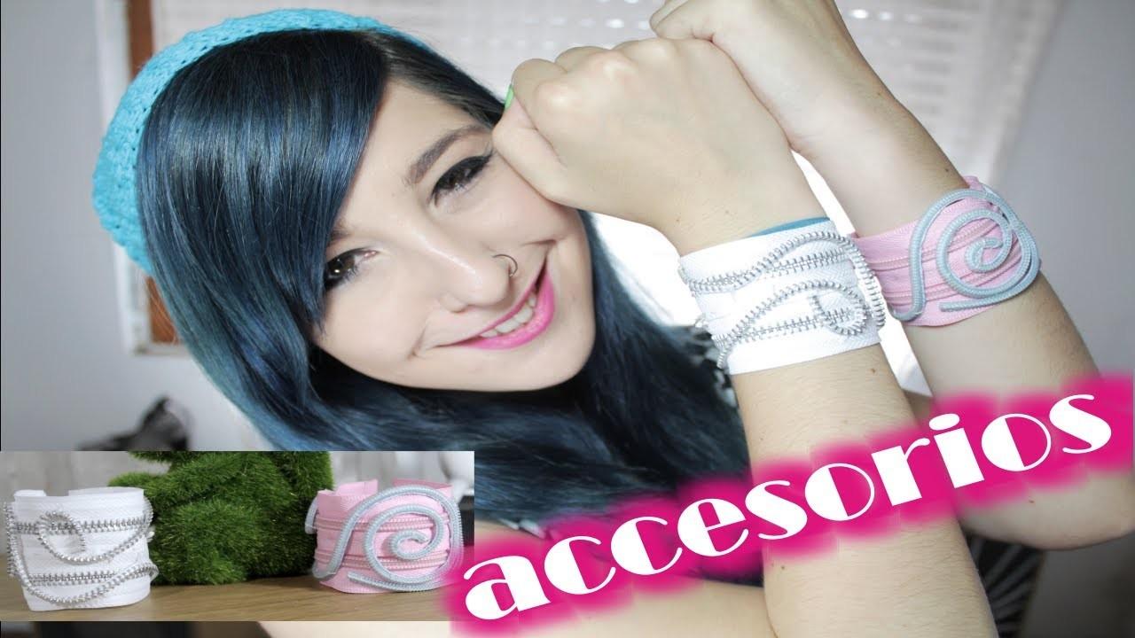 ¡crea tus accesorios! ✩ BRAZALETES de cierres ¡muy fáciles!. DIY bracelets - accessories