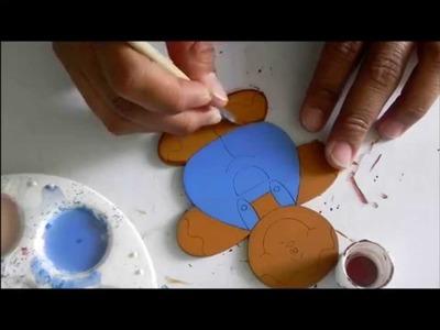 Madera country, Pintando unas galletas de jengibre