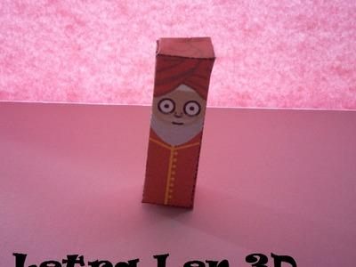 Manualidades, Letra I en 3D. PaperCraft. Alfabeto.