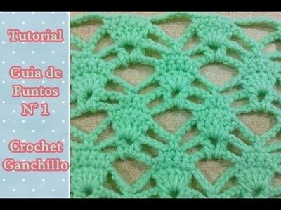 Paso a paso de punto crochet ganchillo calado ( Número N° 1)