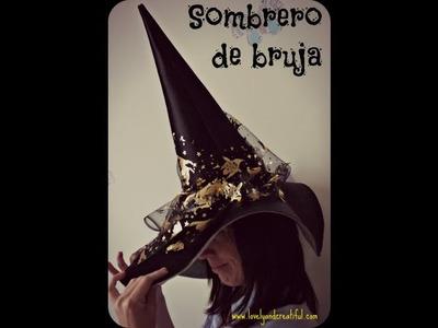Patrón y confección de un sombrero de bruja para Halloween