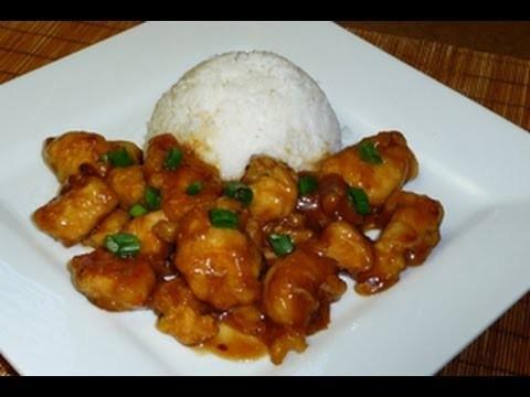 Pollo en Salsa de Naranja, comida China