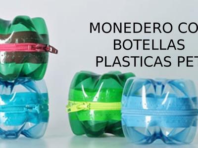 Reciclaje de Botellas Plásticas PET, Manualidades: Monedero