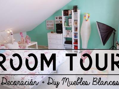 ROOM TOUR | Nueva Decoración + Diy Muebles Blancos