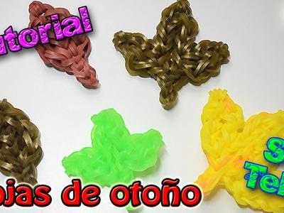 ♥ Tutorial: Hojas de Otoño de gomitas (sin telar) ♥