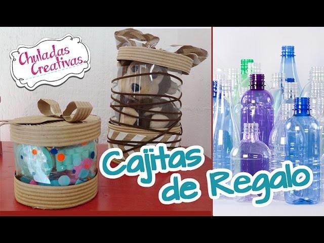 Chuladas Creativas :: Cajitas de Regalo con Botellas de Pet :: Manualidades Sammily