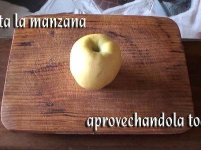 Como cortar una Manzana para aprovecharla toda