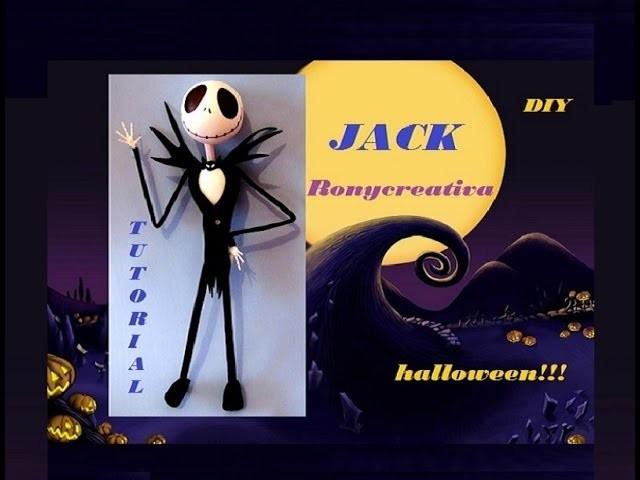 COMO HACER A JACK SKELETON. JACK SKELLINGTON HALLOWEEN DIY