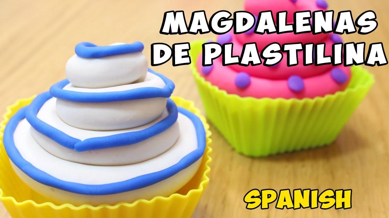 Cómo Hacer Cupcakes de Plastilina FACIL
