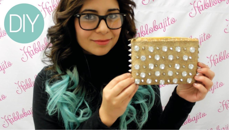 Cómo hacer un bolso de mano con estoperoles. Accesorios de Moda - Hablobajito