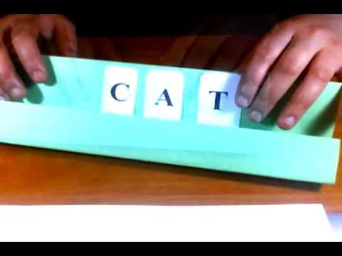 Como hacer un estante para letras