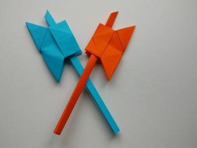 Como hacer un hacha de papel (arma de papel)