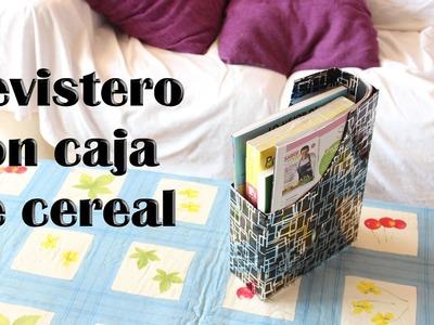 Cómo hacer un revistero con una caja de cereal, revistero reciclado DIY - Manualidades Fáciles