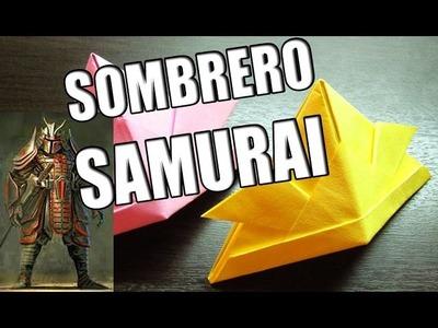Como hacer un sombrero samurai de papel | Origamis de papel paso a paso