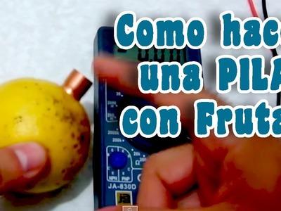 Como hacer una batería con frutas