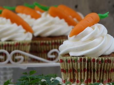 Cupcakes de zanahoria decorados