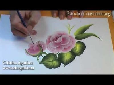 Curso pintura muticarga , pintar rosas , Painting roses