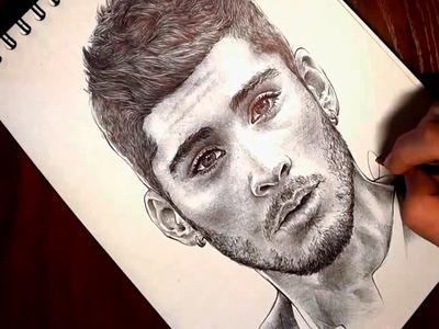 Drawing Zayn Malik of One Direction (Dibujando a Zayn Malik)