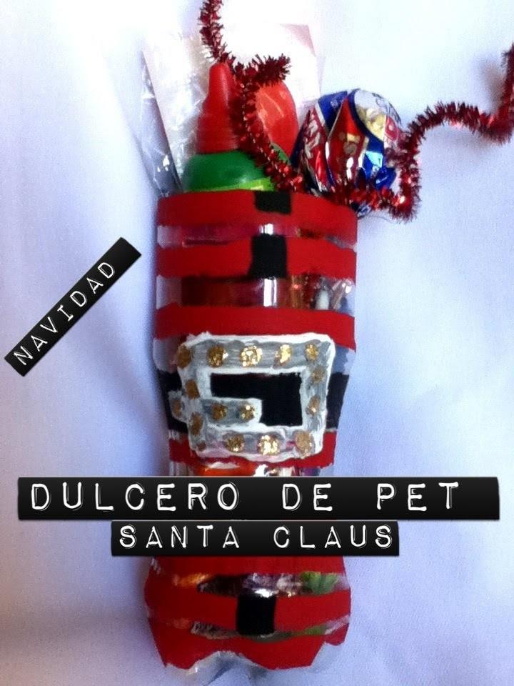 Dulcero Pet botella santa claus navidad  fácil reciclaje