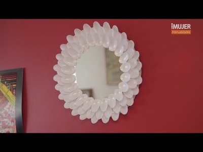 Espejo decorado con cucharas | Cómo decorar un espejo | @iMujerHogar